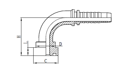 4SH Hose Assembly Fit Drawing