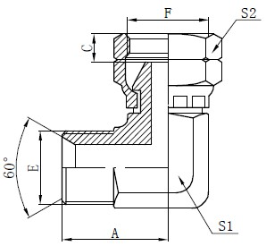 BSP Elbow Connector Teken