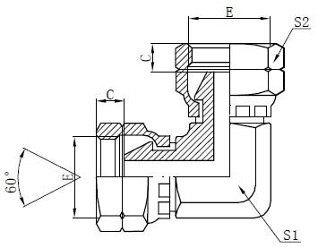 BSP Vroulike Elmboog Adapter Tekening