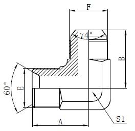 BSP Hidrouliese Adapters Tekening