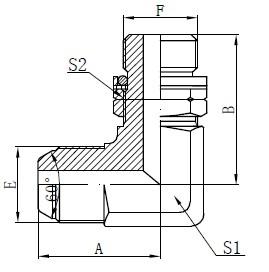 BSP O-ring Verstelbare Stoet Tekening