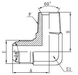 BSPT Male Adapter Connectors Tekening