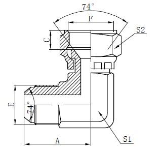 JIC Flat Face Connectors Teken