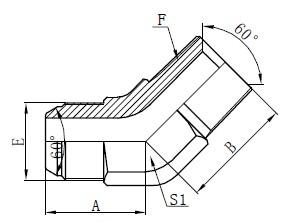 JIS GAS Elmboog Connectors Teken