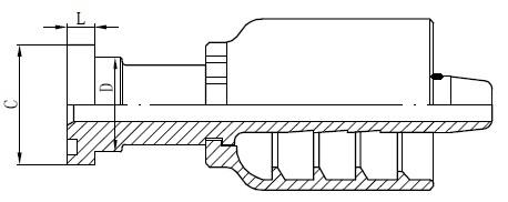 SS Tube Connector Tekening