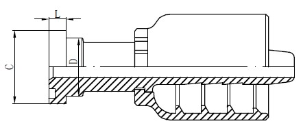 Vlekvrye staal hidrouliese toebehore Tekening